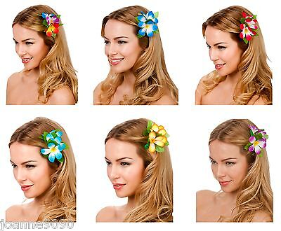 Hawaiian Hawaii Flower Hula Luau Fancy Dress Costume Accessory Hibiscus Hairclip