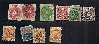 Mexico stamps early collection on stock page