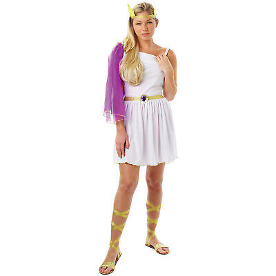 Womens Greek Goddess Rubies New Sexy Adult Toga Roman Fancy Dress Costume Outfit