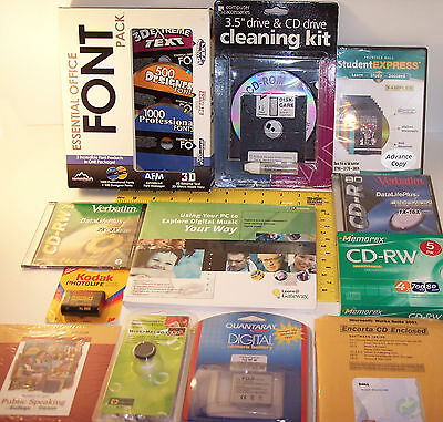 Huge lot of Computer software & Electronics ~ SpeechMate,Kodak,Fuji,Office Font