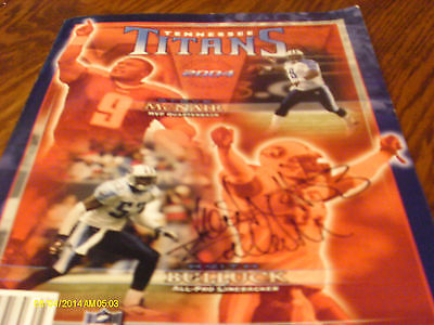 Autographed Keith Bullock Tennessee Titans 2004 Team Yearbook