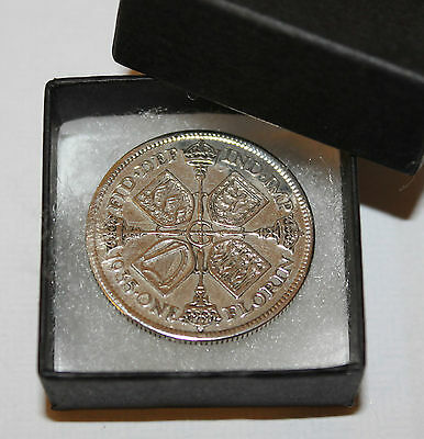 Boxed Highly Polished Silver Florin Choice Of Date 1920-1946 Birthday Present