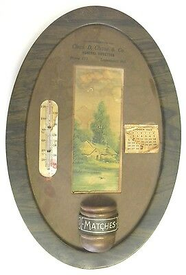 1922 Chas D Chase Funeral Advertising Thermometer - Logansport Indiana IN