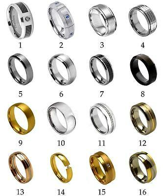 Men's Titanium Wedding Ring Classic Comfort Fit Band New Quality Fashion Jewelry
