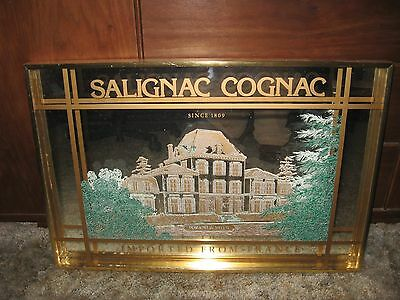 LQQK 3D Mirror Salignac Cognac Import from France Since 1809 Advertising NICE!