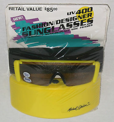 VINTAGE 80s MICHAEL JACKSON official SIGNATURE SUNGLASSES NOS w/CASE YELLOW NEON
