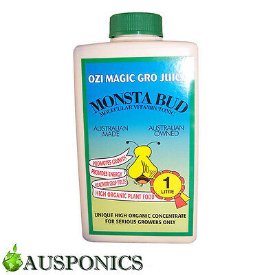 1 LITRE OZI MAGIC MONSTA BUD Organic Garden Nutrients For Hydroponics