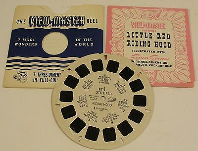 1946 SAWYER'S INC VIEW-MASTER ONE REEL LITTLE RED RIDING HOOD FT-1 - USA