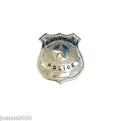 Silver Metal Special Police Man Woman Badge Fancy Dress WPC Costume Accessor