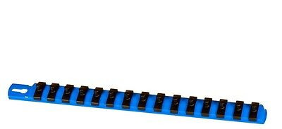 "Ernst 8417 13"" LONG 1/4"" Drive TWIST LOCK Socket Rail Organizer - BLUE"