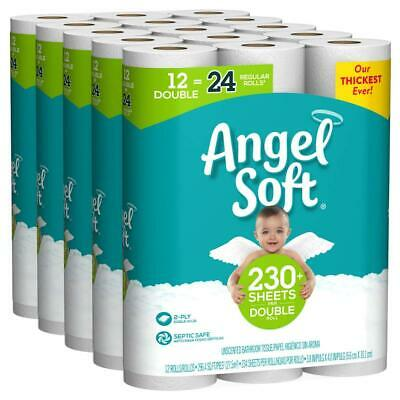 Angel Soft 48 Double Rolls Toilet Paper Tissue Bathroom 2 Ply Soft & Strong