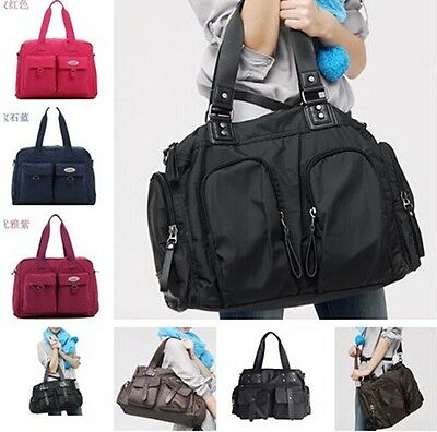 New Kids Boys Girls Baby Diaper Nappy Changing Bag Mommy Messenger Bag with Mat