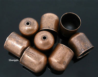 10 x END BEAD CAPS TIPS 9mm for KUMIHIMO  Bracelets & Necklaces COPPER TONE