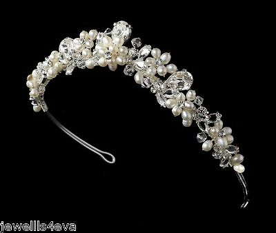 Bridal Wedding Swarovski Crystal Pearl Tiara