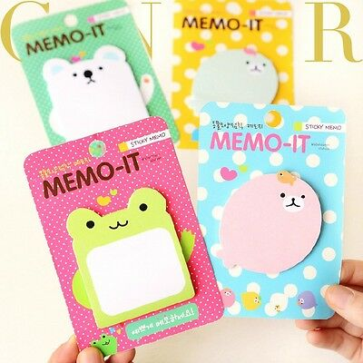 Cute Animal Memo It Sticker Post It Bookmark Index Tab Pads Flags Sticky Notes