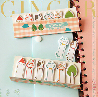 Lovely Forest Animal Sticker Post It Bookmark Index Tab Pads Flags Sticky Notes