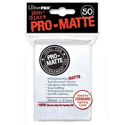 Ultra Pro 50 Pro Matte-Standard Deck Protector Sleeves White 82651 For Magic