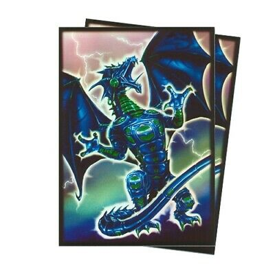 50 Max Protection Yugioh Card Neo Protector Sleeves - Blue Robo Fury Dragon