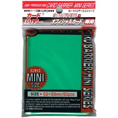 Kmc 50 Small Size Yugioh Card Barrier Sleeves Deck Protectors - Mini Green