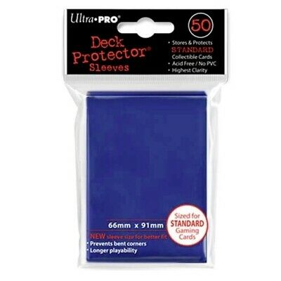 Ultra Pro 50 Standard Deck Protector Sleeves Blue 82670