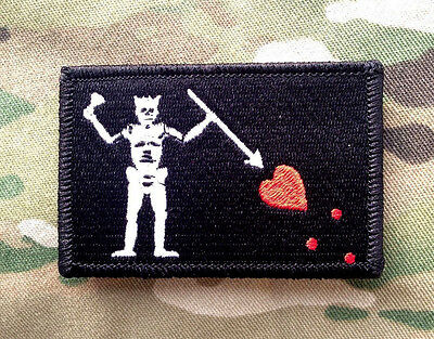 Blackbeard Pirate Tactical Hook Military Morale Patch Black North Carolina