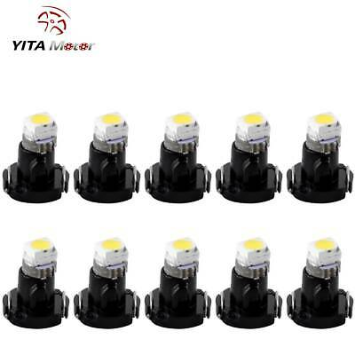 10 PCS Pure White T3 Neo Wedge 1-1210 SMD 8mm Cluster Instrument Dash Light US