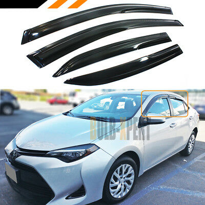 Jdm Mugen 3D Style Smoked Window Visor Vent Shade For 2014-2017 Toyota Corolla