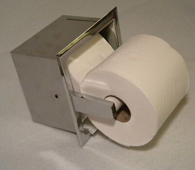 Commercial Home Recessed Double Extra Spear Roll Toilet Paper Holder Dispenser