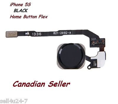 New Black Home Button Flex Ribbon Cable Touch ID Sensor Assembly For iPhone 5S