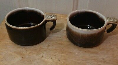 Vintage Brown drip glazed  USA Cups lot of 2