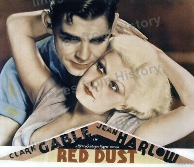 8x10 Print Jean Harlow Clark Gable Red Dust 1932 Poster #925