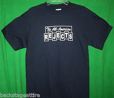 ALL AMERICAN REJECTS Blocks Logo Tyson Ritter Wheeler Tshirt T-Shirt MEDIUM-New!