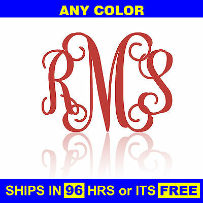 "20""x15"" Painted Monogram Wooden Nursery Baby Shower Initials Wall Door Wood"
