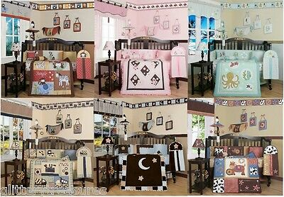 Baby Girls Boys 13 Piece Crib Bedding Set - Multiple Themes