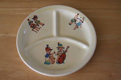 Vintage Canonsburg Pottery Co. MUSICAL PLAY TIME Child's Grill Plate