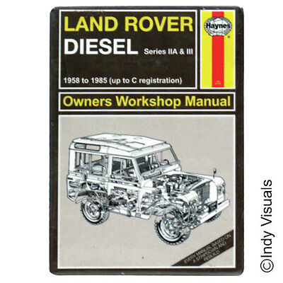 Land Rover Haynes Manual Style Metal Fridge Magnet OFFICIALLY Licensed