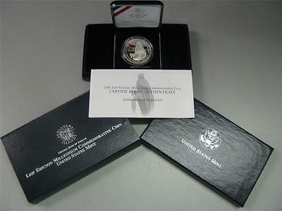 2000 Leif Ericson Icelandic Proof Silver Dollar Commemorative Coin US Mint