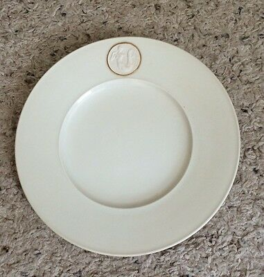 "Royal Berlin ARCADIA White Gold Accent 8 1/8"" Salad Plates Set of 4"