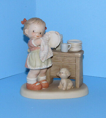 Enesco Memories of Yesterday Them Dishes Nearly Done  524611 Washing Dishes