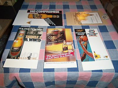 5 Miller Genuine Draft Tent Signs Sports Spin Sign is 8 1/2 Inch High