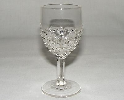 ANTIQUE VICTORIAN eapg EARLY CANADAIN FILLY PRESSED GLASS WINE CORDIAL