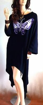 Swing Pretty Hand Painted Butterfly Blouse Dress Soft Kaftan Arch Ladies Cool K