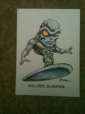 Silver Surfer Superfreeks Card Signed RAK!!! NM Condition Ships Fast and Secure
