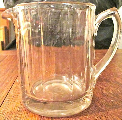 Vintage Heavy Faceted Clear Glass Beer Pitcher Estate Sale