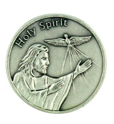 """Life is a Journey"" Jesus Christ with Holy Spirit Dove 1 1/8"" Pocket Coin Token"