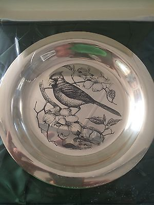 Solid Sterling Silver Plate The Cardinal By Richard Evans Younger