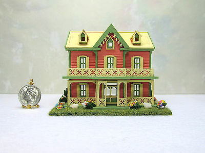 Dollhouse Miniature Handcrafted 1:144 Scale House with 6 Rooms