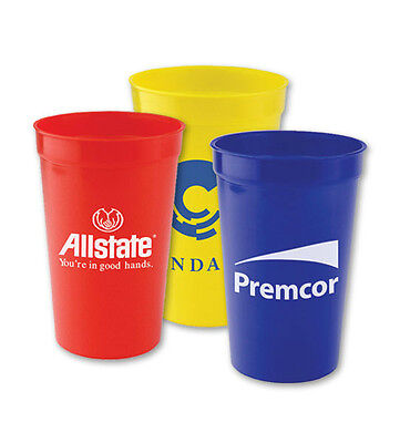 STADIUM CUPS, 22 OUNCE - 250 quantity - Custom Printed with Your Logo