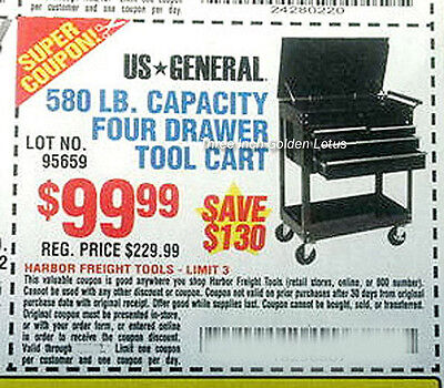 harbor freight coupon exp 8 3 five 5 drawer tool cart box cabinet save 140. Black Bedroom Furniture Sets. Home Design Ideas