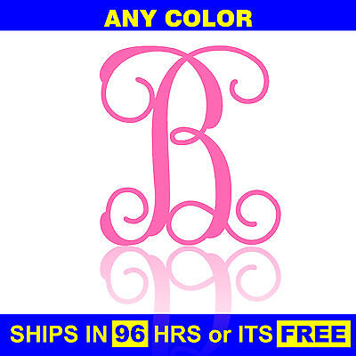 "18"" Tall Painted Letter Wooden Nursery Baby Wedding Initial Wall Front Door Wood"